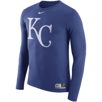 Kansas City Royals mlb nike authentic dri-fit performance бейсбольная лонгслив футболка