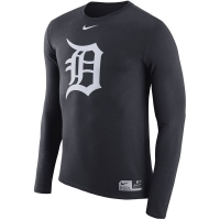 Detroit Tigers mlb nike authentic dri-fit performance бейсбольная лонгслив футболка