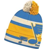 St Louis Blues nhl reebok winter classic хоккейная шапка с помпоном желто-голубая