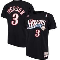 Allen Iverson Philadelphia 76ers nba mitchell & ness баскетбольная футболка черная