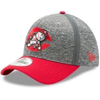 Cincinnati Reds mlb new era flex heathered спортивная бейсболка серая