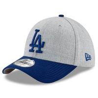 Los Angeles Dodgers mlb new era LA flex heathered спортивная бейсболка серая