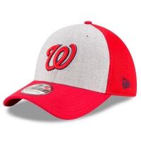 Washington Nationals mlb new era flex neo спортивная бейсболка серая
