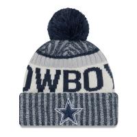Dallas Cowboys nfl new era sideline зимняя шапка с помпоном