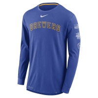 Milwaukee Brewers mlb nike dri-fit performance бейсбольная лонгслив футболка