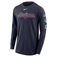 Cleveland Indians mlb nike dri-fit performance бейсбольная лонгслив футболка