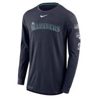 Seattle Mariners mlb nike dri-fit performance бейсбольная лонгслив футболка