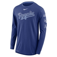 Kansas City Royals mlb nike dri-fit performance бейсбольная лонгслив футболка