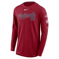 Washington Nationals mlb nike dri-fit performance бейсбольная лонгслив футболка