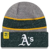 Oakland Athletics mlb new era heathered зимняя спортивная шапка