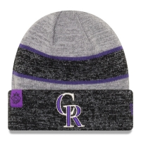 Colorado Rockies mlb new era heathered зимняя спортивная шапка