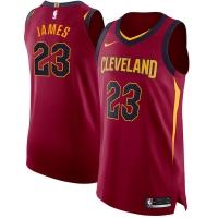 LeBron James Cleveland Cavaliers nba nike authentic джерси баскетбольная майка бордовая