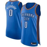 Russell Westbrook Oklahoma City Thunder nba nike authentic джерси баскетбольная майка синяя