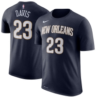 Anthony Davis New Orleans Pelicans nba nike dri-fit performance баскетбольная футболка синяя