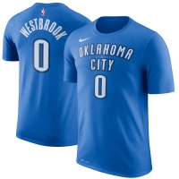 Russell Westbrook Oklahoma City Thunder nba nike dri-fit performance баскетбольная футболка синяя
