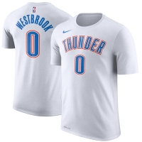 Russell Westbrook Oklahoma City Thunder nba nike dri-fit performance баскетбольная футболка белая