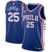 Ben Simmons Philadelphia 76ers nba nike джерси баскетбольная майка синяя