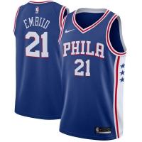 Joel Embiid Philadelphia 76ers nba nike джерси баскетбольная майка синяя