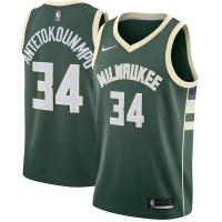 Giannis Antetokounmpo Milwaukee Bucks nba nike джерси баскетбольная майка зеленая