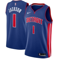 Reggie Jackson Detroit Pistons nba nike джерси баскетбольная майка синяя
