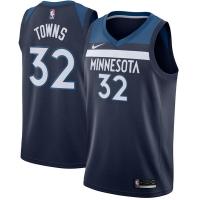 Karl-Anthony Towns Minnesota Timberwolves nba nike джерси баскетбольная майка темно-синяя