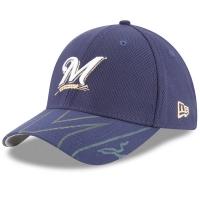 Milwaukee Brewers mlb new era flex спортивная бейсболка темно-синяя