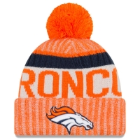 Denver Broncos nfl new era sideline зимняя шапка с помпоном