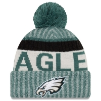Philadelphia Eagles nfl new era sideline зимняя шапка с помпоном