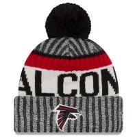 Atlanta Falcons nfl new era sideline зимняя шапка с помпоном