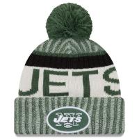 New York Jets nfl new era sideline зимняя шапка с помпоном