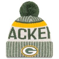 Green Bay Packers nfl new era sideline зимняя шапка с помпоном