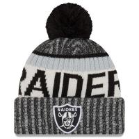 Oakland Raiders nfl new era sideline зимняя шапка с помпоном