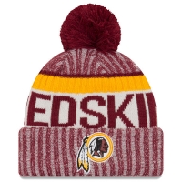 Washington Redskins nfl new era sideline зимняя шапка с помпоном