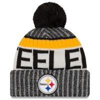 Pittsburgh Steelers nfl new era sideline зимняя шапка с помпоном
