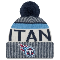 Tennessee Titans nfl new era sideline зимняя шапка с помпоном