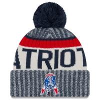 New England Patriots nfl new era historic зимняя шапка с помпоном