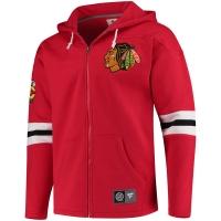 Chicago Blackhawks nhl fanatics full-zip hoodie хоккейная толстовка с капюшоном красная