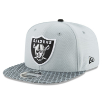 Oakland Raiders nfl new era snapback sideline спортивная кепка silver