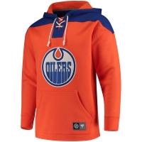 Edmonton Oilers nhl fanatics lace up hoodie хоккейная толстовка с капюшоном