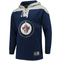 Winnipeg Jets nhl fanatics lace up hoodie хоккейная толстовка с капюшоном