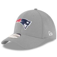 New England Patriots nfl new era flex sideline спортивная бейсболка серая