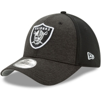 Oakland Raiders nfl new era flex shadowed спортивная бейсболка черная