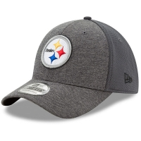 Pittsburgh Steelers nfl new era flex shadowed спортивная бейсболка серая