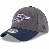 Oklahoma City Thunder nba new era flex-fit heathered спортивная бейсболка серая