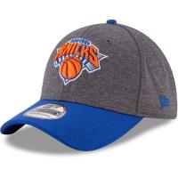 New York Knicks nba new era flex-fit heathered спортивная бейсболка серая