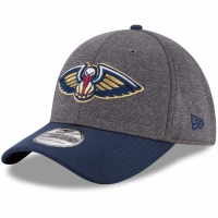New Orleans Pelicans nba new era flex-fit hearhered спортивная бейсболка серая