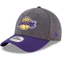 Los Angeles Lakers nba new era flex-fit heathered спортивная бейсболка серая