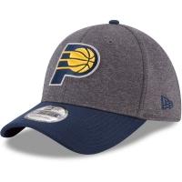 Indiana Pacers nba new era flex-fit heathered спортивная бейсболка серая