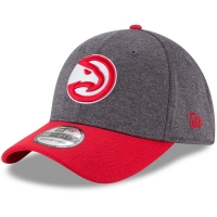 Atlanta Hawks nba new era flex-fit heathered спортивная бейсболка красно-серая