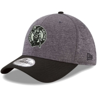 Boston Celtics nba new era flex-fit heathered спортивная бейсболка черно-серая